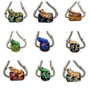 Frog Lamp work Glass Charm Beads European Charm Bracelets Exotic