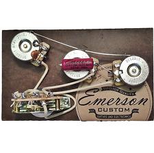 Emerson Custom 5-Way Strat Prewired Kit 250k Wiring Harness Pots Made in USA