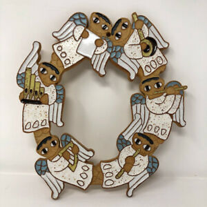 St. Andrews Abbey Ceramic Angels Wreath Wall Hanging Plaque
