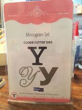 NEW Quickutz / Lifestyle Crafts 'Monogram Y' (3 Die Set) Cookie Cutter Dies Die