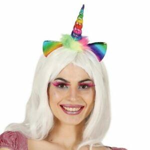 Child Unicorn Horn & Ears on Headband Tiara Multicoloured Cute Accessory