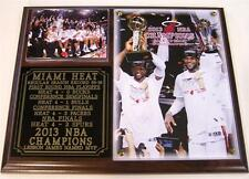 Miami Heat 2013 NBA Champions LeBron James MVP Photo Plaque D Wade World Champs
