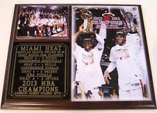 Miami Heat 2013 NBA Champions LeBron James MVP Photo Plaque D Wade World Champs