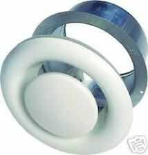 "4"" 100mm White Metal Air Valves for Extractor Fans, Ducting, Ceiling Grille Vent"