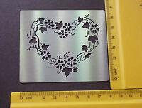 Stainless/Steel/stencil/METAL /Heart/Floral/Emboss/Valentine/LOVE/Wedding