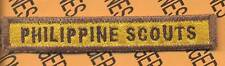 60th Tank Co PHILIPPINE SCOUTS Armored Div TAB patch