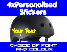 Personalised BMX/SKATE Helmet Name Stickers X4!!!!! Lots of Fonts and Colours