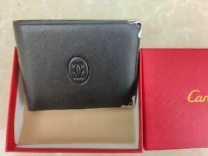 Cartier bi-fold Black wallet and boxed cards