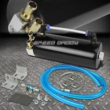 Billet Aluminum Racing Engine Oil Catch Reservoir Tank/Can+Hose Indicator Black