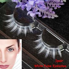 White Cosplay  Long Cross  Natural Long  Eyelashes Extension False Eyelashes
