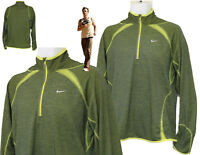 New NIKE + Mens RUNNING  Athletic Top  Layer Reflective  Zest / Black XL