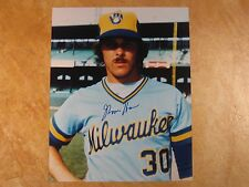 MOOSE HAAS SIGNED AUTOGRAPHED 8X10 PHOTO RARE! 1976-85 1ST TM MILWAUKEE BREWERS