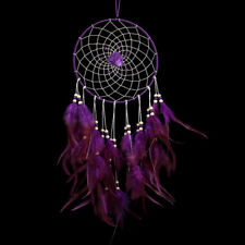 Gift Big Purple Wind Chimes Flower Feather Pendant Dream Catcher Gift Hot Sale