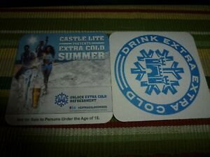 CA.nov.  AFRICA CASTLE LITE  beer coaster    GIRL