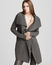 VM091 NWT VINCE HONEYCOMB WOMEN SWEATER CARDIGAN SIZE M in G $395