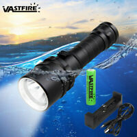 Waterproof T6 LED Diving Flashlight Torch 5000LM Torch Light Set Underwater Lamp