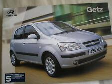 Hyundai Getz brochure Sep 2002