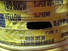 Carol 02638 14/3C Super Vu-Tron Supreme Yellow SOOW 600V Power Cable Cord /25ft