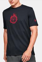 Project Rock x Under Armour Train Hard Tee Black T-Shirt Short Size 1351587 001