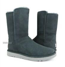 UGG Abree Short II Grigio Grey Suede Fur Boots Womens Size 6 *NIB*