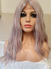 White Blonde Purple Grey Silver Red Glitter Wig Lace Front Synthetic Hair Wig