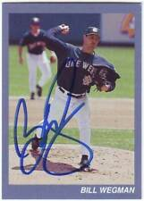 Bill Wegman Religious Card Auto Autograph - Milwaukee Brewers