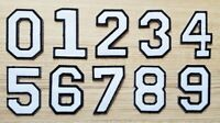 2 Inch White Number 0-9 Patch for Jeans Bags Jacket T-shirt Embroidered Sign DIY