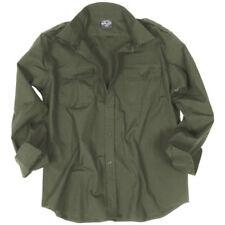 Camisas y polos de hombre de manga larga en verde 100% algodón
