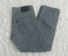 Levis 513 Slim Straight Men's Denim Jeans Size 33X30 Zip Fly Gray Pants EUC..