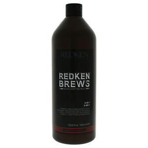 Redken Brews 3-in1 Shampoo, Conditioner and Body Wash 33.8 oz *Same Day Ship