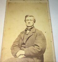 Antique Victorian American Civil War Era Fashion Man, South Hadley MA CDV Photo!