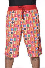 Candy Crush Regular Fit Drawstring Shorts Size Medium Imperious Red Orange $60
