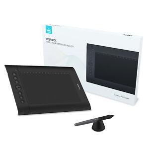 HUION H610 PRO V2 Battery Free Pen Graphic Drawing Tablet Tilt 8 Hot Keys OTG