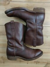 VTG Red Wing 1155 Nailseat Pull On Cowboy Work Boots Leather USA Size 9.5 D