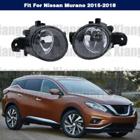 Pair Fog Lamps Driving Bumper Front Lights For Nissan Murano 2015 2016 2017 2018