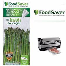 "11"" Food Saver Roll Vacuum Sealer Storage Bag 2 Pack"