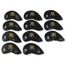 New Miura Golf Magnetic Iron Headcover Black Gold Carbon Fiber 11Pc 3-PW A S X