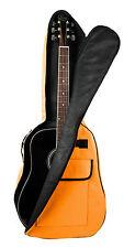 Orange Acoustic Guitar Case For Gibson, Ibanez, Tanglewood, Yamaha & Fender