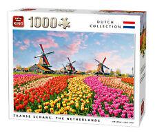 1000 Pieza Rompecabezas Molinos de Viento & Tulipanes Zaanse Schans Holanda 5722