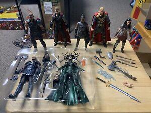 Marvel Legends MCU THOR Hela Sif Skurge - Lot Of 7 Figures - USED
