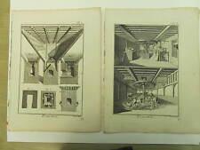 Encyclopédie Panckoucke Brasserie 5 planches simples originales 1783 complet