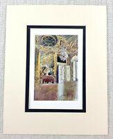 Royal Appartamento Palazzo Di Versailles L Oeuil De Bouef Antico Stampa Ca. 1906