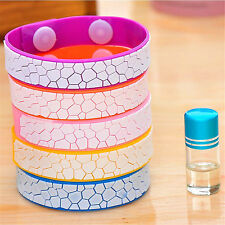 Anti Mosquito Pest Insect Bugs Repellent Repeller Wrist Band Bracelet & Oil Set