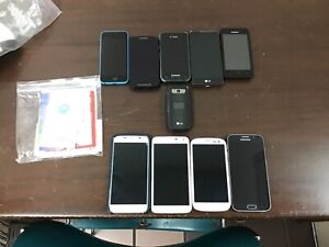 Lot of 10 Samsung Phones Galaxy, T:Mobile, iPhone,LG No Chargers (lock & unlock)