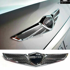 Wings Logo Carbon Emblem Badge Rear Trunk 1P for HYUNDAI 2018-2020 Genesis G70