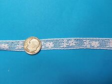 "French Heirloom Cotton Lace Insertion 1/2"" Wide/White Fashion/Craft/Doll Lace887"