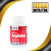 Jarrow Formulas Arginine 1000mg 100 Tablets | Muscle Supports Protein Synthesis