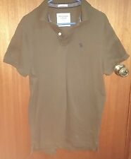 Abercrombie and Fitch Polo Shirt Size L Khaki green