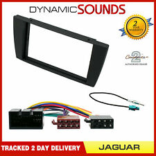 Double Din Stereo Fitting Kit Fascia Panel Wiring ISO Loom for Jaguar X / S Type