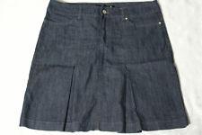 BETTY BARCLAY Rock Gr. 40 blau kurz/mini Baumwolle Jeans Falten Stiefel Rock